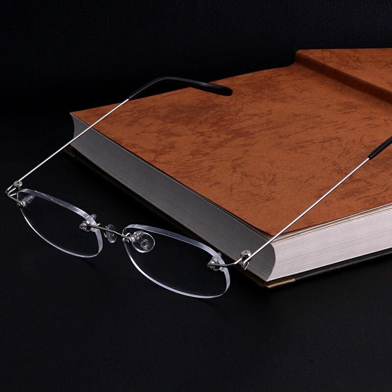 Women Men Metal Rimless Reading Glasses Eyeglasses Readers +1 +2 +3 +4