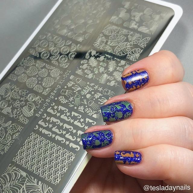 BeautyBigBang 5PCS Stamping For Nails 6*12cm Rectangle Nail Stamping Plates Summer Flower Nail Template Nail Stamping
