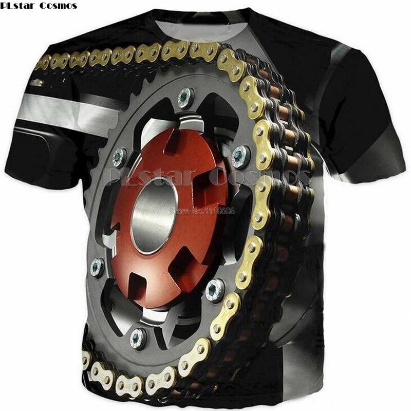 PLstar Cosmos t shirt men woman 3d shirt summer top fashion clothes hip hop printed tshirt harajuku Mechanical chain size tops