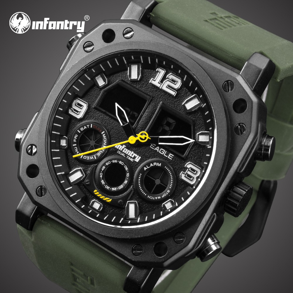 цена на INFANTRY Mens Watches Top Brand Luxury Analog Digital Military Watch Men Army Tactical Field Watches for Men Relogio Masculino