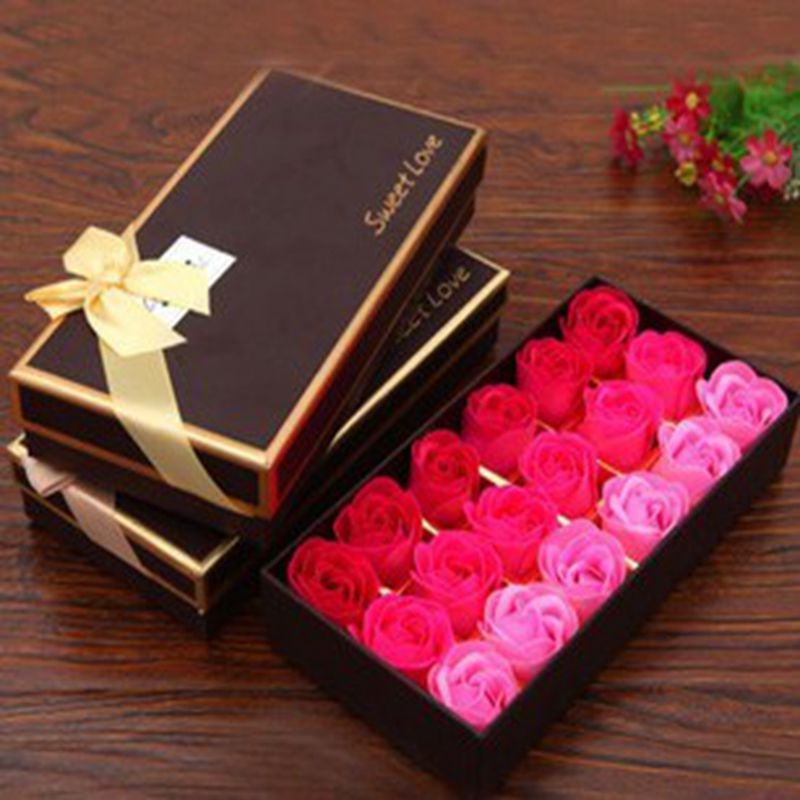 18 Romantic Valentine S Day Gift Soap Flowers Roses Coffee Boxes