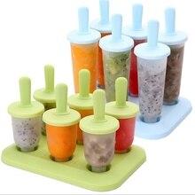 6 шт. формы для мороженого, Фруктового мороженого, инструменты для приготовления пищи, Прямоугольная форма, многоразовые формы для приготовления мороженого «сделай сам»
