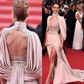 Long Mermaid Backless Celebrity Dresses 2017 High Neck Evening Gowns