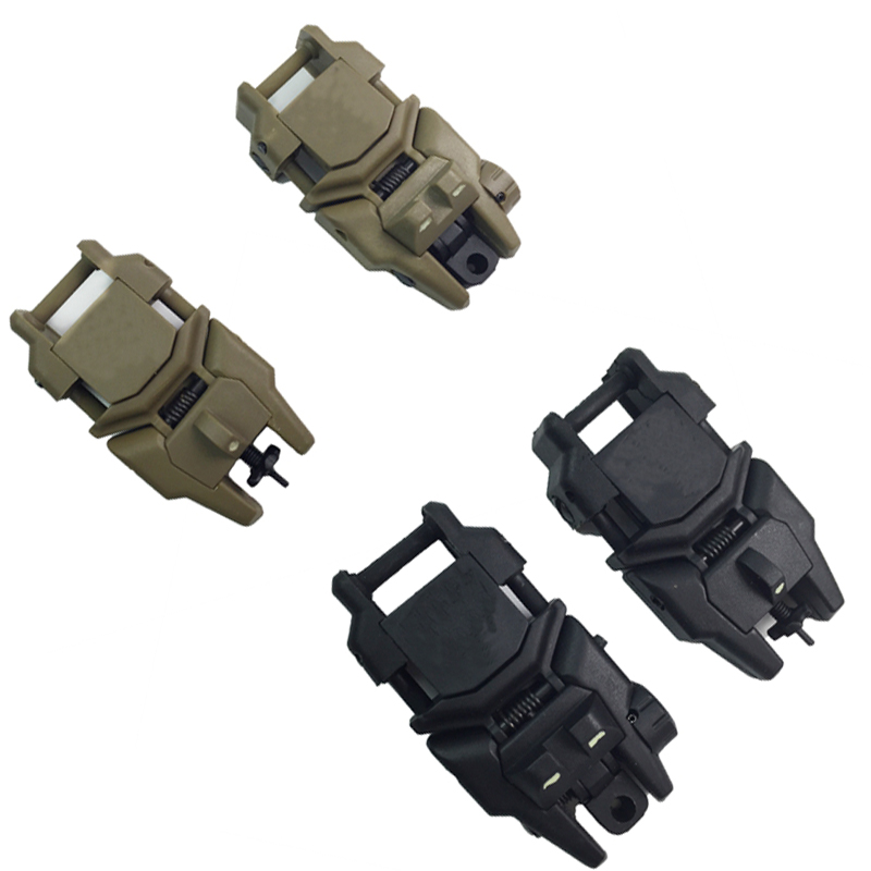 Tactical Flip Up Folding Front And Rear Back-Up Sight For 20mm Weaver Rail Mounts Riflescope Gun Airsoft CS Hunting Accessories