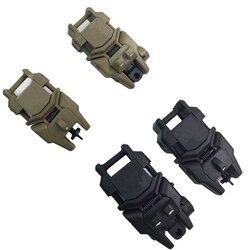Tactische Flip Up Vouwen Voor en Achter Back-Up Sight Voor 20mm Weaver Rail Mounts Riflescope Gun Airsoft CS Jacht Accessoires