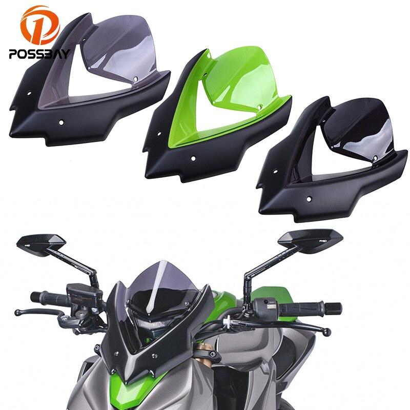 POSSBAY pare-brise moto pare-brise Double bulle Bicicleta pour Kawasaki Z1000 2015 2016 z1000 accessoire moto vtt