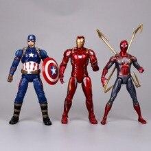 цена на Marvel Avengers Iron man Thanos Hulk Ant-man Spiderman super heroes collection toys Garage Kit gift anime Action figure