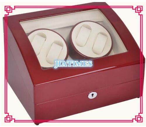 New Wholesale Luxury Red Auto Watch Winder 4 Watches & Storage 6 Watch Chronometer Timepiece