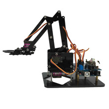 DIY Acrylic robot arm robot claw arduino kit 4DOF toys Mechanical grab Manipulator Upgrade