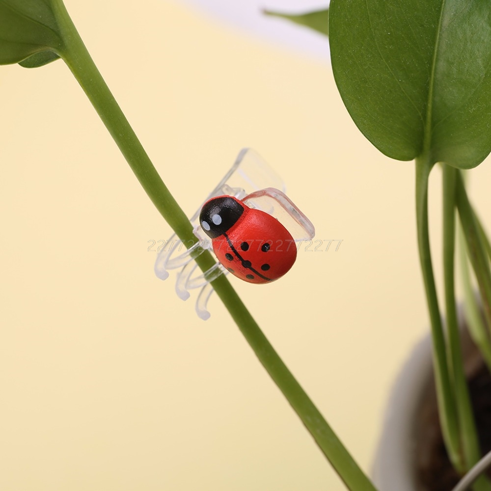 10 Pack Cute Ladybug Orchid Clips Garden Flower Cymbidium Clips Plant Stem Support Clips J18 19 Dropship