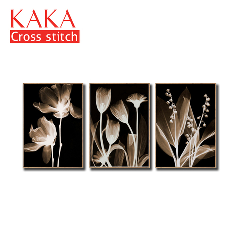 Kits de Ponto Define com Padrão Decoração de Casa 11ct-canvas para Pintura Cruz Bordado Needlework Impresso Flores Completa Ckf0069 Dmc