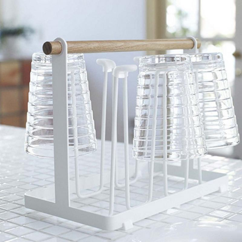 Cup Rack Kitchen Organizer Shelves Metal Cup Holders Tablewear Drying Rack  Cup Plates Holder Home Storage Organization