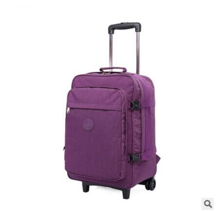 nylon Travel Rolling Luggage Bag Travel Boarding bag with wheels travel cabin luggage suitcase wheeled trolley bag Travel Tote