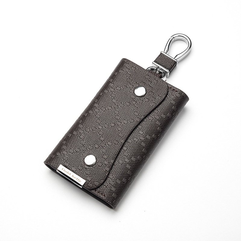 Top Grain Italian Leather Keychain Men Key Holder Organizer Pouch Car Key Bag Wallet Housekeeper Key Case Mini Credit Card Bags