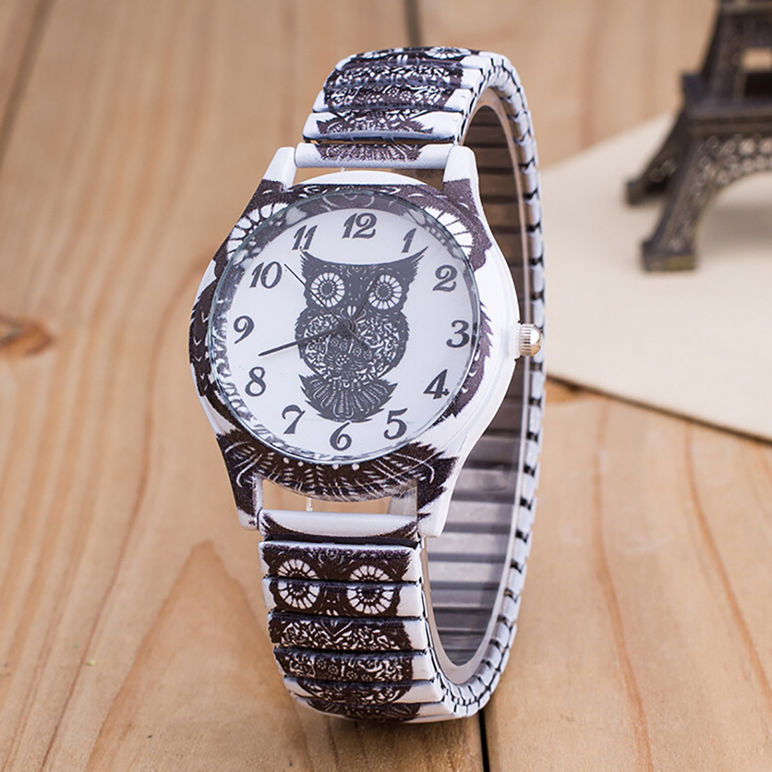Hot Sale Elastic Band Watches Stainless Steel Wristwatches Print Skull Peacock Owl Pattern Fashion Casual Watch Women Watch