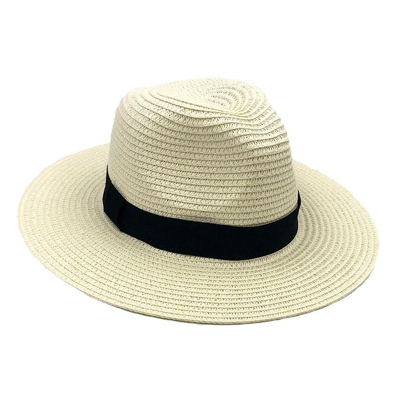 Chapeau paille Panama décontracté large bord été