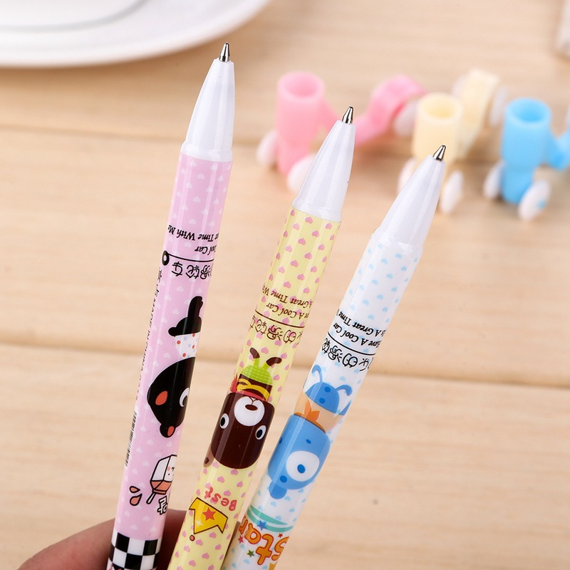 Image 3 - 50pcs/set Korea funny stationery scooter cartoon ball point pen primary school students gifts creative office pens for writing-in Ballpoint Pens from Office & School Supplies