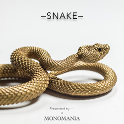 Chaveiro de bronze chaveiro chaveiro de ouro punk rock animal anel chave bolsa pingente de cobra