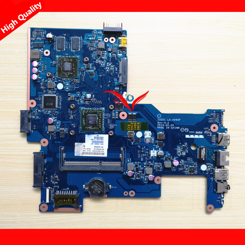 764269-501 For HP 15-G Laptop Motherboard ZS051 LA-A996P REV.40 mainboard 100% Tested