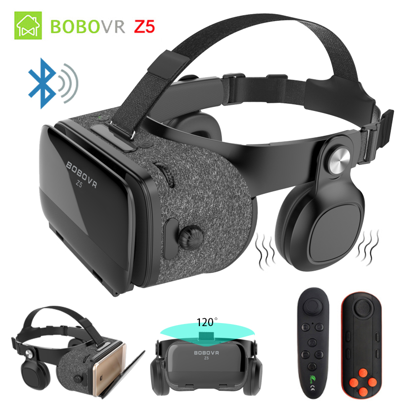 BOBOVR Z5 4D Bluetooth Virtual Reality 3D Glasses Cardboard Helmet Smartphone VR Goggles Shock Headset Box For Iphone 8 Android original vr virtual reality 3d glasses box stereo vr google cardboard headset helmet for ios android smartphone bluetooth rocker