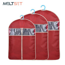 4 Colors Home Clothes Storage Bag Protector Garment Dust Cover Folding Closet Hanging Organizer