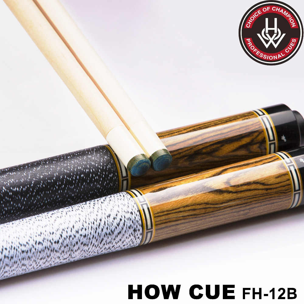 HOW Offical Store Original HOW Pool Cue FH-12B  Handmade Professional Black8 Cue Billiard Pool Stick Athlete13 mm Tip with Case