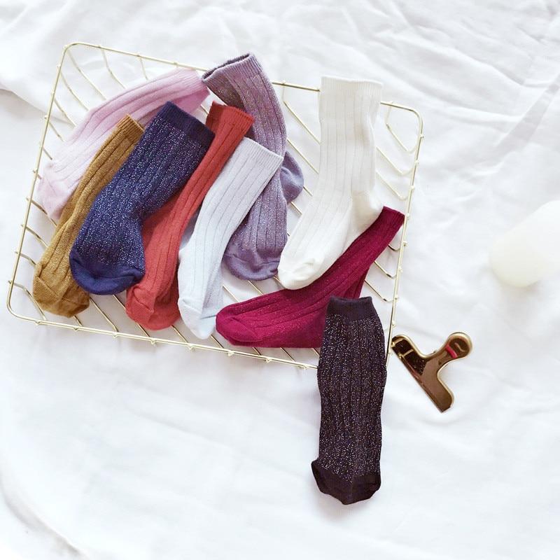 YWHUANSEN Good Quality Golden Yarn Childrens Socks 3 Years Soft Cotton Baby Summer Socks Toddler Short Socks Infant Accessories