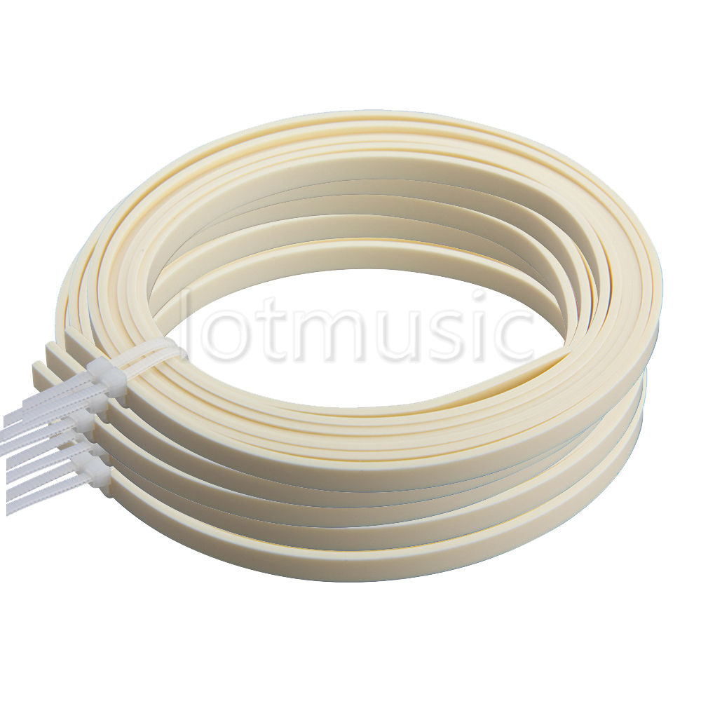 5 Pcs Guitar Binding Purfling Strips ABS Guitar Parts Accessories for Luthier Supplies 5 Feet 5mm 4mm 5 Color Available