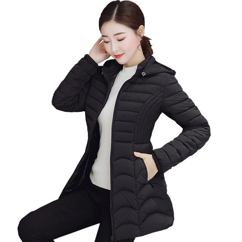 Women   Parkas   Plus Size 6XL Winter Down Cotton Jacket Thicken Warm Slim Hooded Outerwear Female Cotton Padded Coats Jackets 445