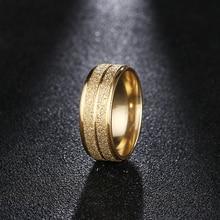 DOTIFI 316L кольца из нержавеющей стали для женщин золото/серебро цвет скраб обручальное кольцо ювелирные изделия