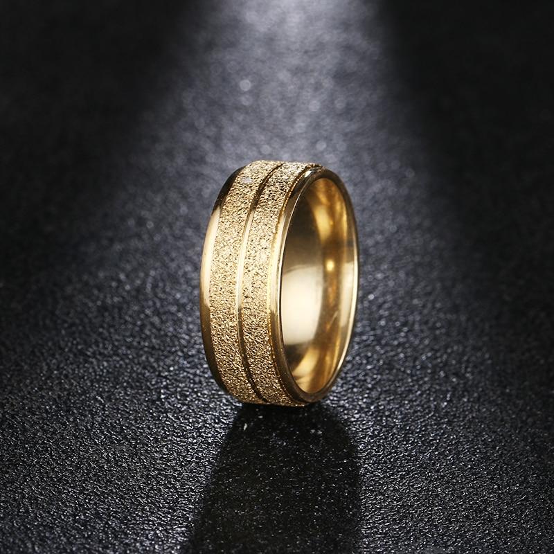 DOTIFI 316L anillos de acero inoxidable para mujeres oro/Color plata de compromiso boda anillo de la joyería