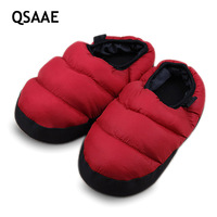 KING LUCK Winter Warm Down Cotton Slipper Non Slip Couple House Slippers Cotton Padded Indoor Home