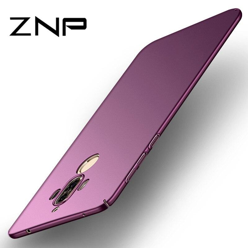 ZNP Роскошный тонкий защитный чехол для huawei mate 10 Lite mate 10 Pro Жесткий Телефон для ПК для huawei Honor 9i Nova 2i чехол в виде ракушки