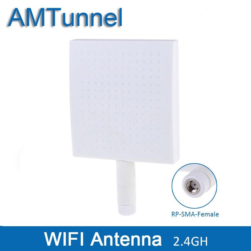 2.4GHz WLAN WiFi Panel Antenna 2400-2500MHz Antenna 12dBi External Antenna RP-SMA Female Connector For Routers
