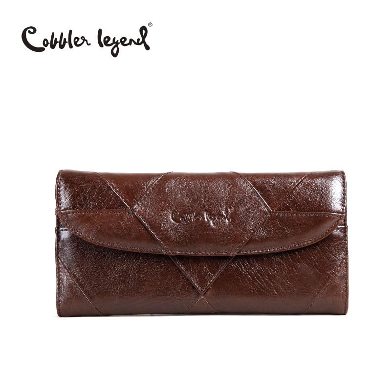 sapateiro lenda diamantes patchwork carteira Composição : Cowhide Leather