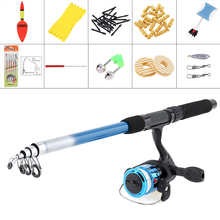 1.8m Fishing Rod Reel Line Combo Full Kits Spinning Reel Pole Set with Carp Fishing Lures Fishing Float Hook Swivel And so forth Device
