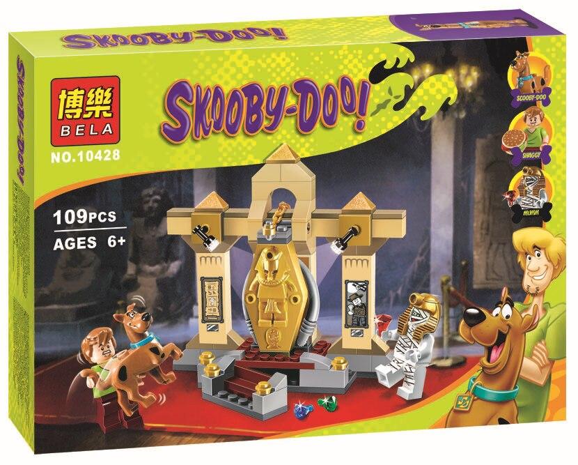 Museo BELA Scooby-doo 10428 Momia tapiceria Bloque de Construccion Modelo Kits de Scooby Doo Maravillo Minifigure Juguetes P030 high tech rey de direccion 1056unids set modelo de helicoptero de rescate 3d abs plastico del bloque hueco bahia como regalo