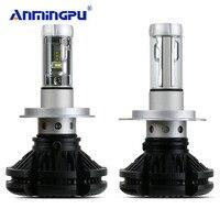 ANMINGPU 2pcs 3000K 6000K 8000K Headlight Bulbs Car Led Light H4 Led Bulb Hi Lo 12000LM