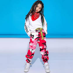 Свободные джаз танцевальные костюмы для девушек Steet танец Практика одежда дети хип хоп сценический наряд ребенок танцы одежда для