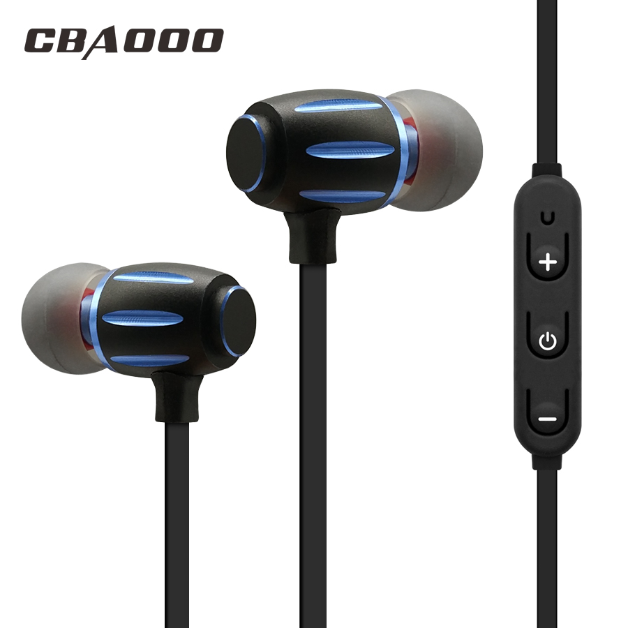 CBAOOO Wireless Bluetooth Earphone Magnetic Bass Headphones With Mic Sport Earpiece Bluetooth Headset Earbuds For Mobile Phone