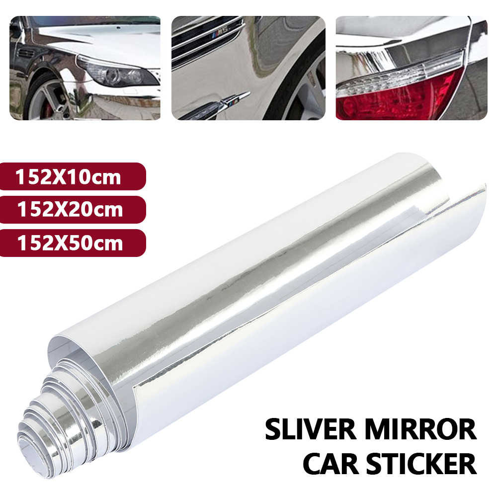 High stretchable mirror silver Chrome Mirror flexible Vinyl Wrap Sheet Roll Film Car Sticker Decal Sheet