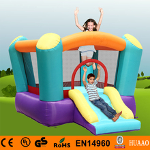 Free Shipping Mini Bouncer Castle Slide Inflatable Playground for kids with Free CE blower