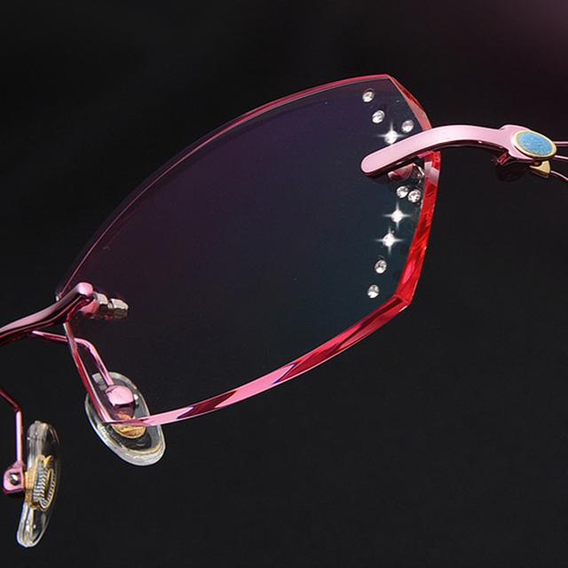 2016 Mulheres Designer de Óculos de sol de Alta Qualidade Óculos de Miopia Mulheres Óculos de Armação de Computador Óculos Senhoras óculos de Leitura Sem Aro Olho 617