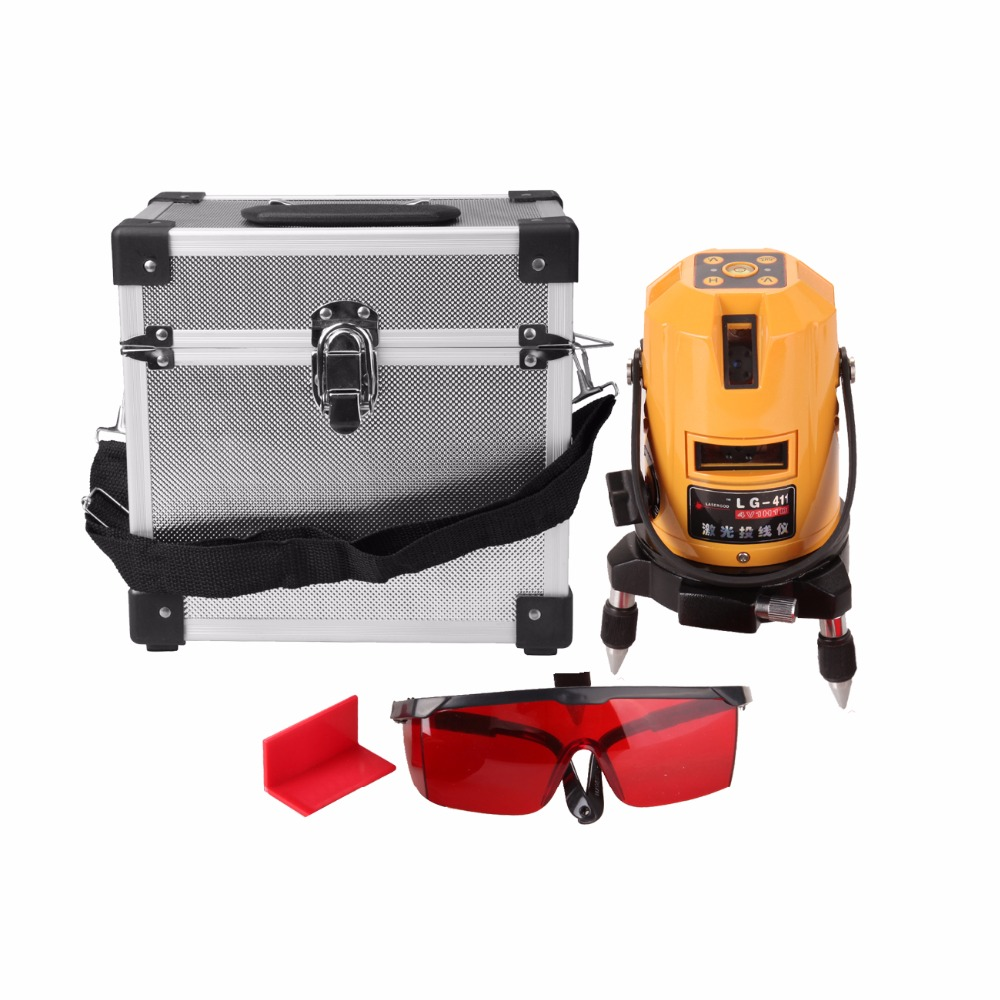 (Ship from AU) Automatic Self-Leveling Laser Level 5 Line 6 Point 4V1H Red Horizontal Vertical Rotary Laser Levels high quality southern laser cast line instrument marking device 4lines ml313 the laser level