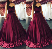 2019 Quinceanera Dresses Satin Ball Gown Corset Back Sweet 16 Girls Prom Dresses Sweet 16 Plus Size Party Quincanera Gown