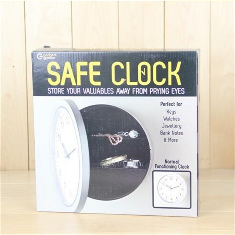 Creative Alarm Clock Safe Clock Jewelry Storage Box Invisible Storage Box Organizer for Jewelry Money and Watch 25*7cm
