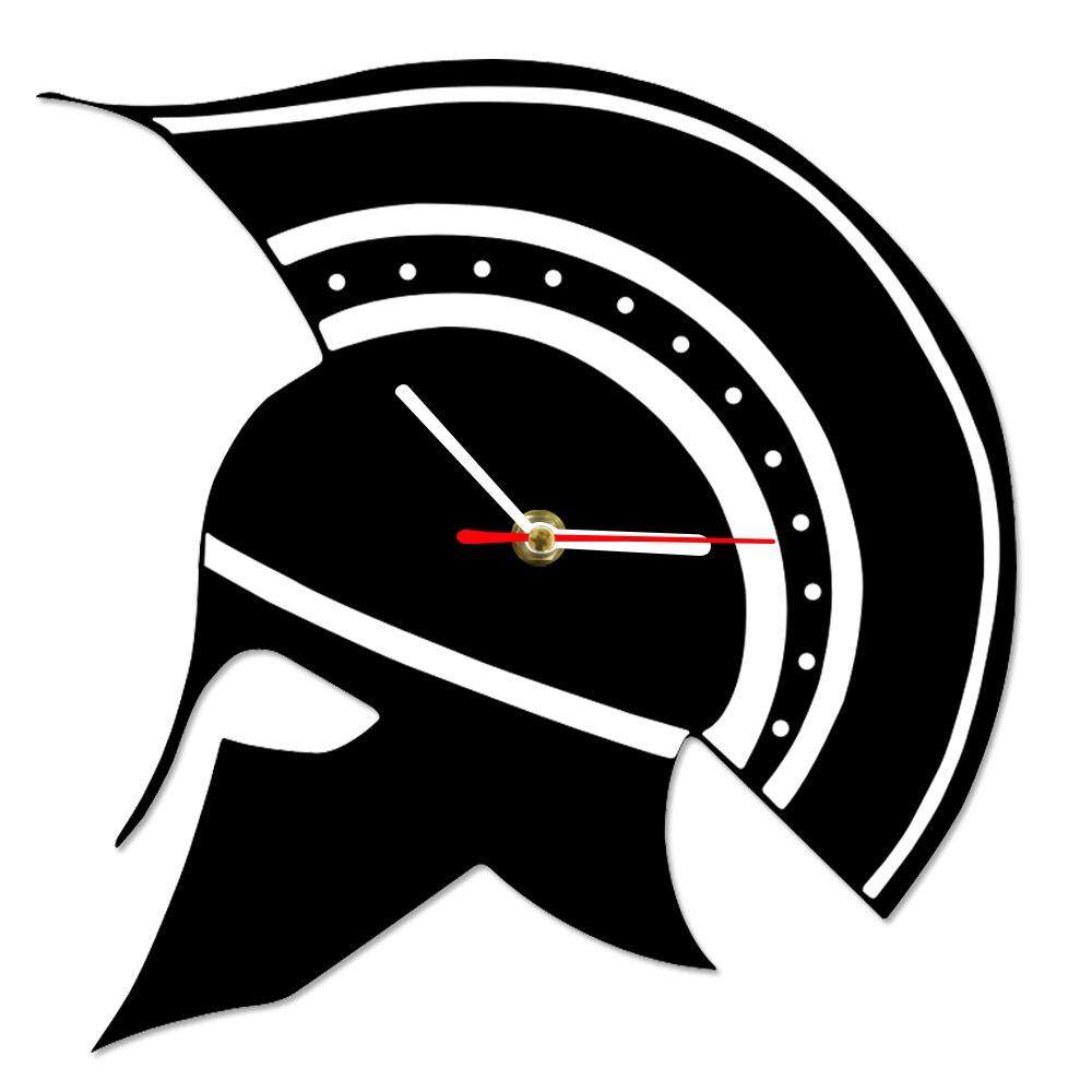 Home & Garden Sparta Greek Helmet Silhouette Greece Wall Clock Maximus Gladiator Warrior Helmet Decorative Wall Watch Ancient Greek Home Decor