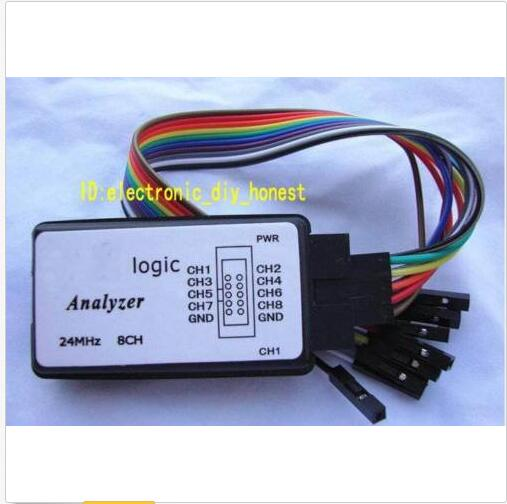 USB Logic Analyser 24M 8CH 24MHz For FPGA ARM usb logic analyzer scm 24mhz 8 channel 24m seconds logic analyzers debugger for arm fpga usb cable dupont cable