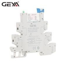 GEYA Slim Relay PLC Interface Hongfa Relay Screw Socket 6A Relay 24VDC/AC Relay Socket 6.2mm thickness цены