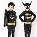 Boys Batman Costume Superhero Halloween Fantasia Christmas Carnival Anime Cosplay Clothes Fancy Dress For Kids